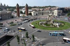 Plaça d'Espanya, Barcelona - Ready to go? Check hotel availability and rates http://www.booking.com/searchresults.html?city=-372490;aid=802126 and our tips to enjoy a green city trip http://greencitytrips.com/destination/barcelona/