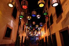 cultural association Teatro Metaphora Turned 133 Old Washing Machine Drums Into Street Lamps