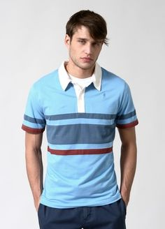 Simple striped polo
