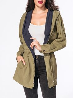 Drawstring Cotton Hooded Coat Only $17.95 USD More info...