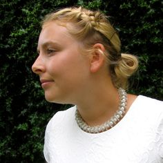 Bridal Necklace  Wire crochet handmade necklace Silver by KvinTal, $68.00