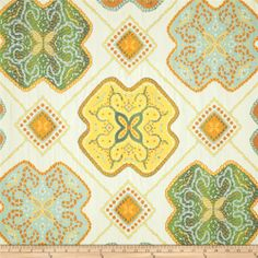 Swavelle Mill Creek Vasili Citrus $14.39/y Contents 100% Cotton Fabric Weight Very Heavyweight Horizontal Repeat 14.75 Vertical Repeat 14 Width 54'' Collection Swavelle/Mill Creek Vasili