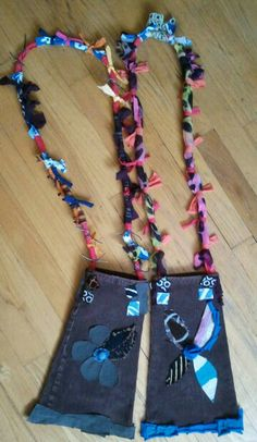 Recycled Cords with Torn T-Shirt Straps by Kimberly Cannon! Kimcanink@yahoo.com