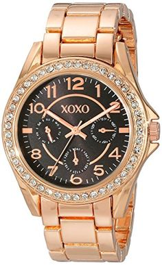 XOXO Womens XO176 Analog Display Analog Quartz Rose Gold Watch ** Continue to the product at the image link.Note:It is affiliate link to Amazon.