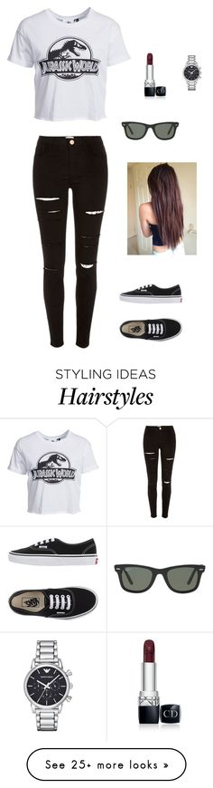 """Untitled #862"" by francyrizzo on Polyvore featuring New Look, River Island, Vans, Ray-Ban, Christian Dior, Emporio Armani, women's clothing, women's fashion, women and female"