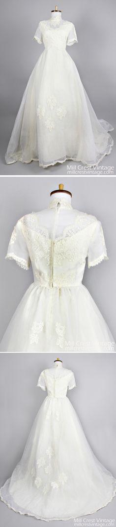 gorgeous vintage 1960s wedding gown