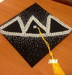 Tri Delta graduation cap decorating! Cap Decorations, Tri Delta, Tassel Necklace, Tassels, Graduation, Decorating, My Style, Bags, Decor