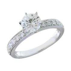 #Malakan #Jewelry - White Gold Semi-Mount Diamond Engagement Ring 21408OA #Bridal #Weddings #EngagementRings #Diamonds