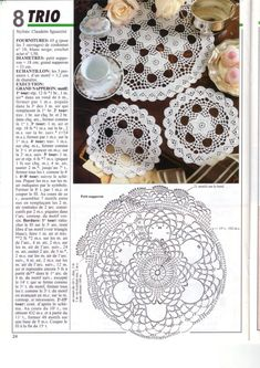 Home Decor Crochet Patterns Part 101 - Beautiful Crochet Patterns and Knitting Patterns Crochet Squares, Crochet Doilies, Crochet Afghans, Knitting Patterns, Crochet Patterns, Crochet Ideas, Crochet Home Decor, Crochet World, Crochet Chart
