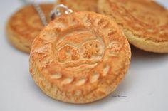 Biscotto pendente collana, collana biscotto Kawaii,gioielli biscotto,Kawaii gioielli, gioielli fimo,collana,misura originale, 5,5cm