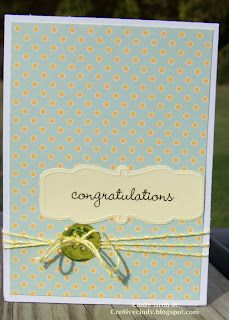 cre8ivecindy: Congrats card. Perfect baby card and simple!