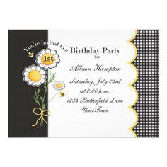 Daisy Birthday Party Invitation