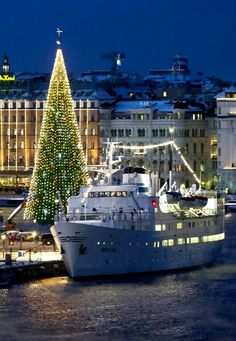 Christmas tree in Stockholm, Sweden