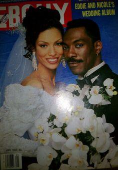 May, 1993...Eddie Murphy and Nicole's Ebony wedding album