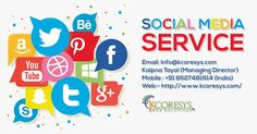 With the widespread popularity of the social media platforms, #Social_Media_Optimization has become the need of the hour. And it is we at Kcoresys Web Solutions offering you that. Our highly dedicated team of SMO experts will offer the most methodical#Smo_Services_India. As a result, every strategy will be in compliance with the specific requirements of your business.