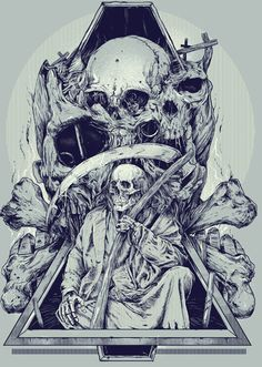 #Skulls by Rafal Wechterowicz