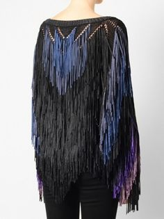 DIY: jersey con flecos   Fashionisima.es Diy Fashion, Dress To Impress, Tie Dye Skirt, Knitwear, How To Make, How To Wear, Knitting, Crochet, Skirts