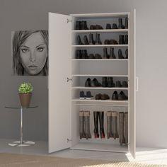 ARTIKELMERKMALE   Sie haben mehr als nur ein paar Schuhe?  Sie wollen diese geordnet, aber immer griffbereit haben?  Dann zögern Sie nicht und holen Sie sich unser Raumwunder für bis zu 20 Paar Schuhe ins Haus!  Selbst Ihre kostbaren Stiefel haben dank gummierter