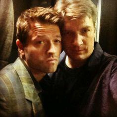 Misha Collins and Nathan Fillion