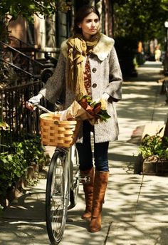 Street Style   Colors of Autumn Outfit with Bouquet & Bike     { Couture /// Runway Every Day 2