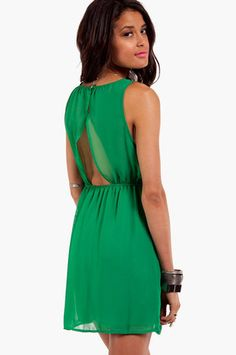 Emerald Matinee  Dress
