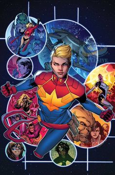 "bear1na: "" Captain Marvel #2 variant cover by Phil Jimenez, colours by Marte Garcia * """