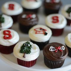 Sibby's Cupcakery » Custom Themes Themed Cupcakes, Mini Cupcakes, Stanford Graduation, Standford University, Royal Icing Cookies, Grad Parties, Tasty, Desserts, Future