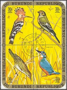 POSTAGE STAMPS: Republic of Burundi    -    Traveling Birds-Clearly Postmarked
