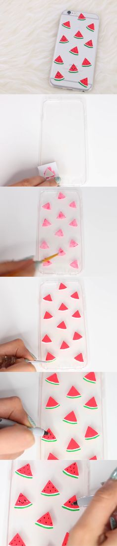 Watermelon phone case DIY tutorial. So cute!!!!