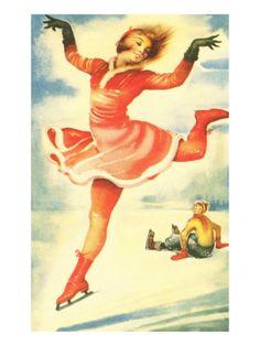 Acrobatic Skater Flitting By Premium Poster