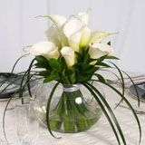 Wedding Table Centerpiece- love Calla Lilies- possibly in a taller cylinder vase
