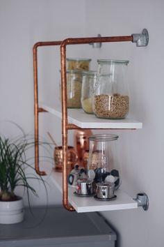 DIY for your selfmade copper shelf | DIY Anleitung für dein selbstgebautes Kupferrohr-Regal | Kupfer DIY Kupferregal