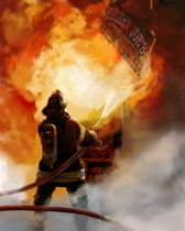Smokey Joe's Bar & Grill is a high resolution, digital reproduction of the fine art by Firefighter/Artist Allan Albaitis. Firefighter Paramedic, Volunteer Firefighter, Firefighters, Firemen, Joes Bar, Smokey Joe, Firefighter Pictures, Into The Fire, Fire Art