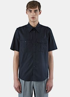 YANG LI Men's Boy Scout Shirt in Black. #yangli #cloth #