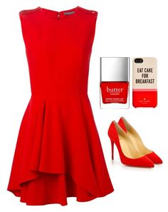 """Untitled #3653"" by adi-pollak ❤ liked on Polyvore featuring Christian Louboutin, Alexander McQueen, Butter London and Kate Spade"