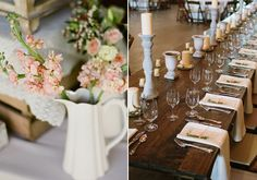 Rustic reception decor | photo by Brandon Chesbro | 100 Layer Cake