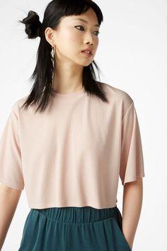 Cropped top - Blush bae blush - Tops - Monki FR