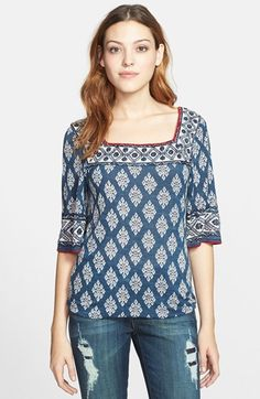 Lucky Brand 'Portland Market' Cotton Top available at #Nordstrom