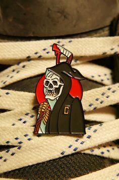 "L&O x Gus Jaimes ""Captain Death"" Lapel Pin – LoudObnoxious"