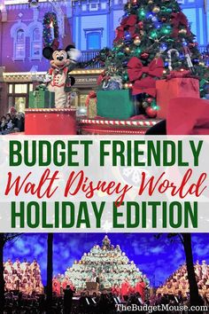 How to take an amazing and affordable trip to Walt Disney World during the holidays! Visit Disney World at Christmas on a budget with these tips and tricks for a Disney vacation in November or December. Accommodations, theme parks, Mickey's Very Merry Christmas party tips, Epcot, decorations, and more planning advice. #disneyworld  via @thefrugalsouth