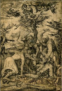 Daniel Hopfer, Gib Frid (Let me Go), early 16th century etching, British Museum;