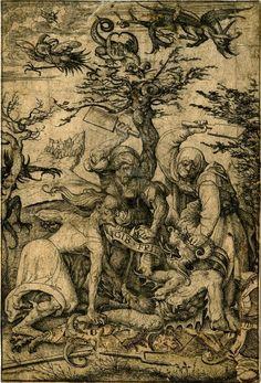 Daniel Hopfer, Gib Frid (Let me Go), early 16th century etching, British Museum;
