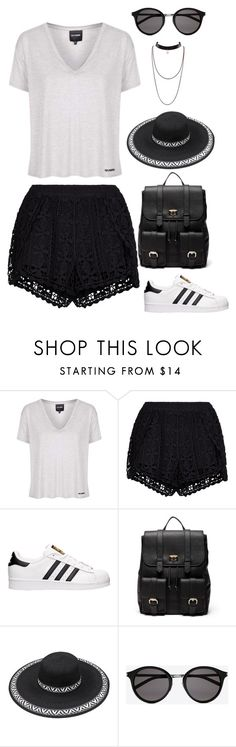 """""""Untitled #4126"""" by kaitoven on Polyvore featuring Topshop, New Look, adidas, Sole Society and Yves Saint Laurent"""