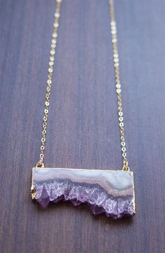 Peach Stalactite Necklace OOAK by friedasophie on Etsy
