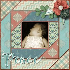 A picture of my daughter.  Kit used: Studio Sherwoods' It Is Well With My Soul available at http://shop.scrapbookgraphics.com/It-is-Well-with-my-Soul.html  Template by Craftostrophic.