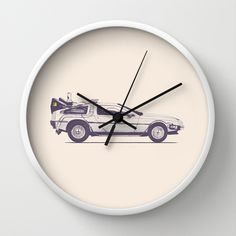 BUY: http://society6.com/product/famous-car-2-back-to-the-future-s-delorean_wall-clock?curator=4thecrime