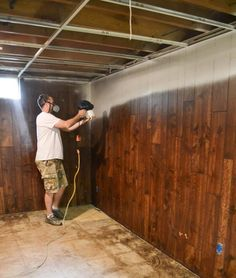 The Easy Way To Paint Paneling - If you have paneling in your home and would like to change it but don't have a big budget, paint it! This post will show you The Easy Way To Paint Paneling! Painting Panneling, Paint Over Wood Paneling, Wood Paneling Makeover, Wood Panneling, Painted Wood Walls, Wood Panel Walls, White Paneling, Panelling, Wood Paneling Remodel