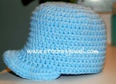 Crochet Newborn Baseball Cap If you tell others about my work, please only link back to my blog, but don't copy my patterns to your site. Also you can sell anything you make from my patterns, but d...