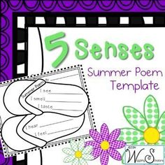 5 Senses 4 Seasons Summer Poem~ great for sub days or a poetry unit!