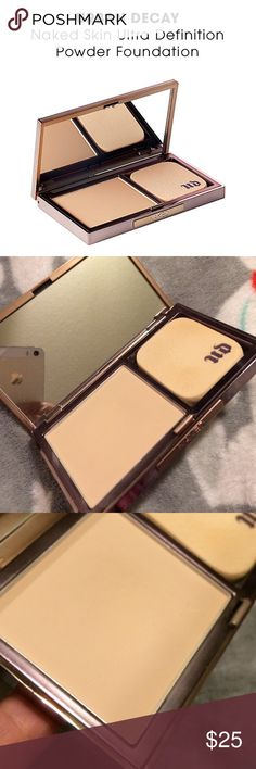 URBAN DECAY ~ NAKED SKIN POWDER FOUNDATION URBAN DECAY ~ NAKED SKIN ULTRA DEFINITION POWDER FOUNDATION ~ % AUTHENTIC ~ USED ONCE ~ SHADE IS FAIR NEUTRAL Urban Decay Makeup Foundation